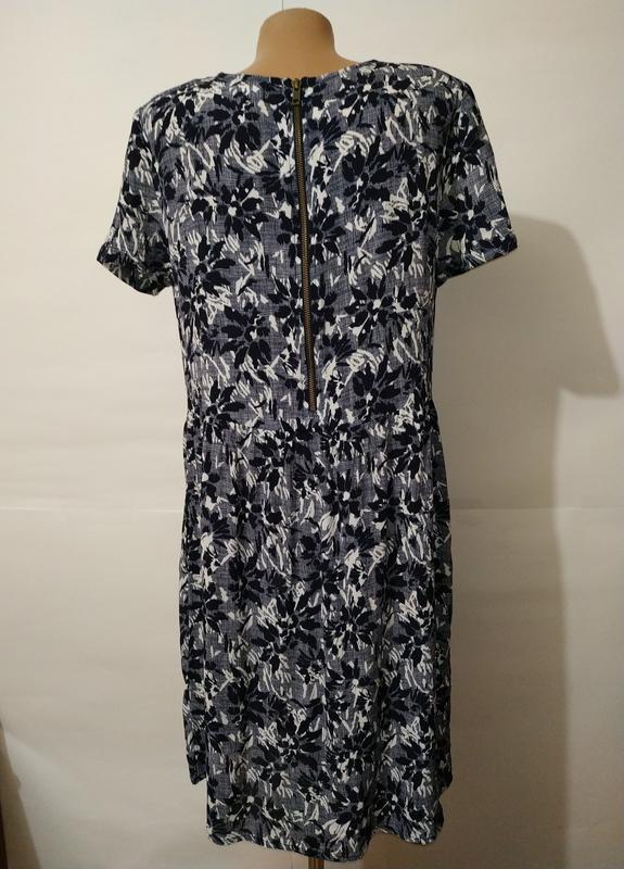 Платье миди натуральное в гобеленовый принт john lewis uk 12/40/m - Фото 6