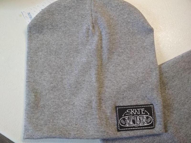 Комплект шапка и хомут серый меланж - Фото 2
