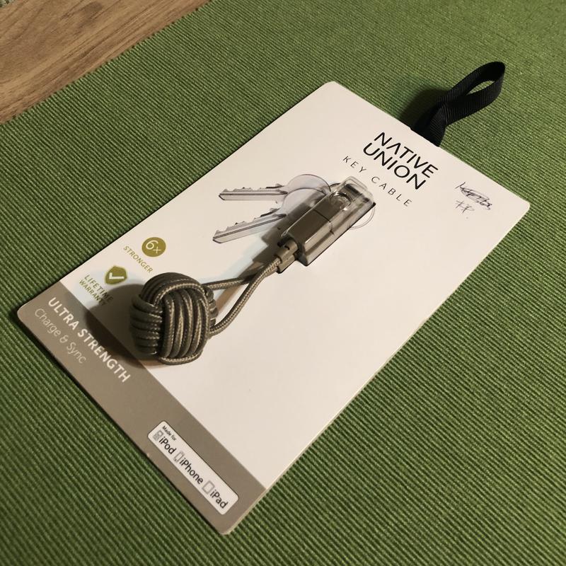 Кабель usb native union key cable lightning taupe {key-kv-l-tau} - Фото 4