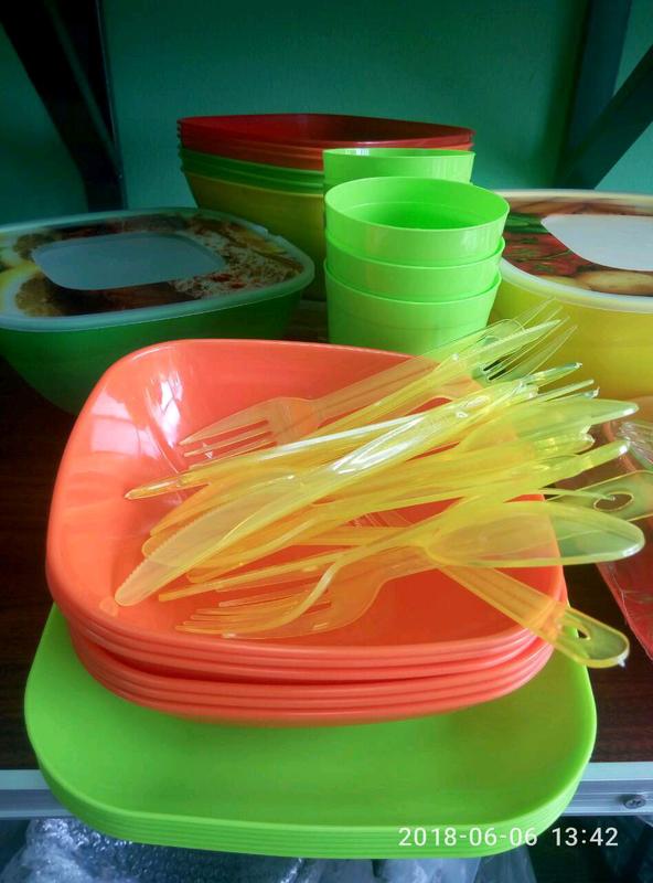 Набор посуды для пикника на 6 персон. - Фото 2