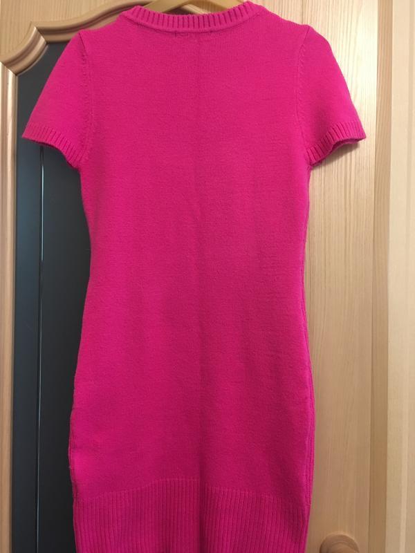 Ярко розовое платье - Фото 3