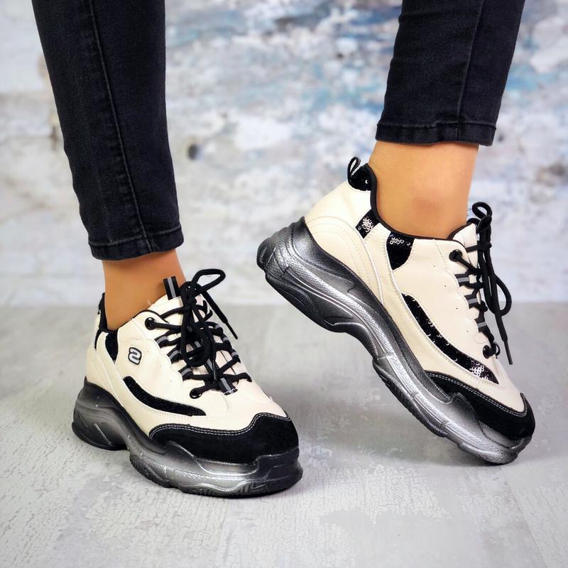 Натуральная кожа кроссовки на массивно подошве качество люкс