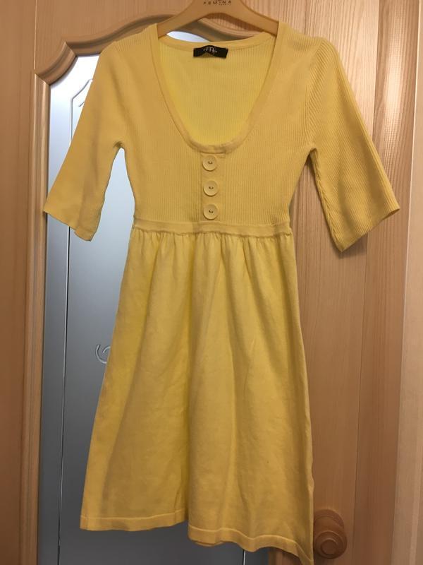 Платье светло желтое - Фото 3