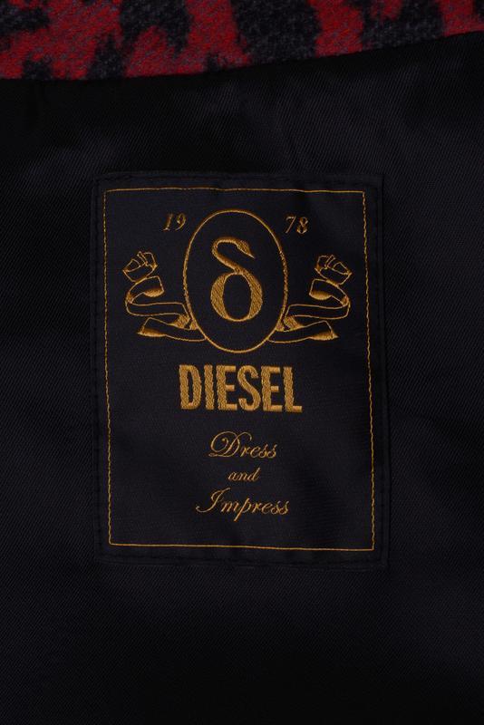 Дафлкот Diesel шерстяное полупальто + 100% кожа тренч демисезон - Фото 14