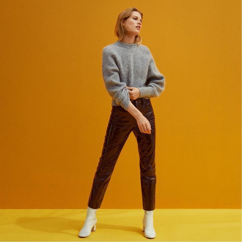 Брюки H&M 100% кожа Premium Quality кожаные штаны джинсы