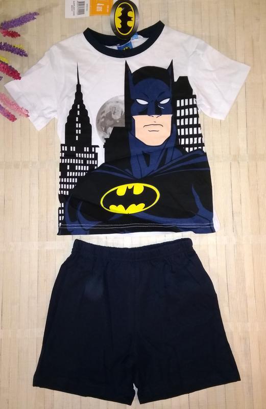 Пижама хлопковая с шортами бэтмэн 4/5 лет batman