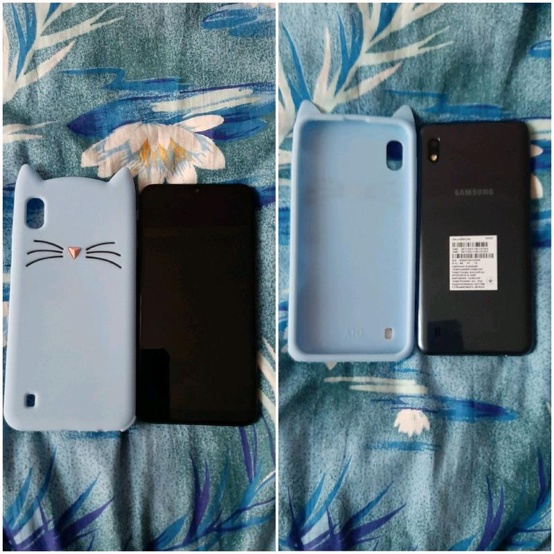 Смартфон Samsung Galaxy A10 2/32Gb Black чехол и стекло - Фото 3