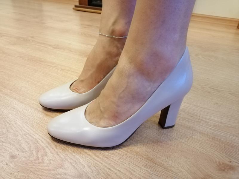 Туфли бежевые натуральная кожа naturalizer - Фото 9