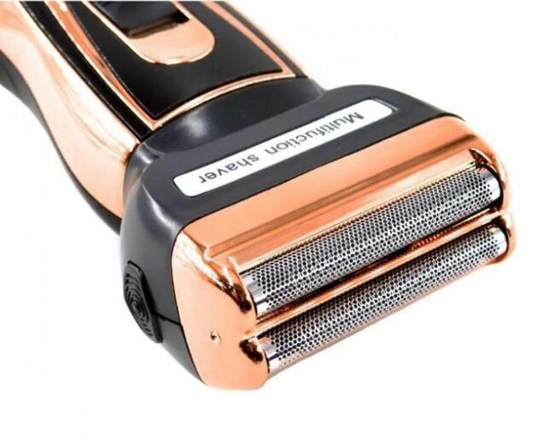 Мужской триммер бритва аккумуляторная для стрижки волос и бороды - Фото 6