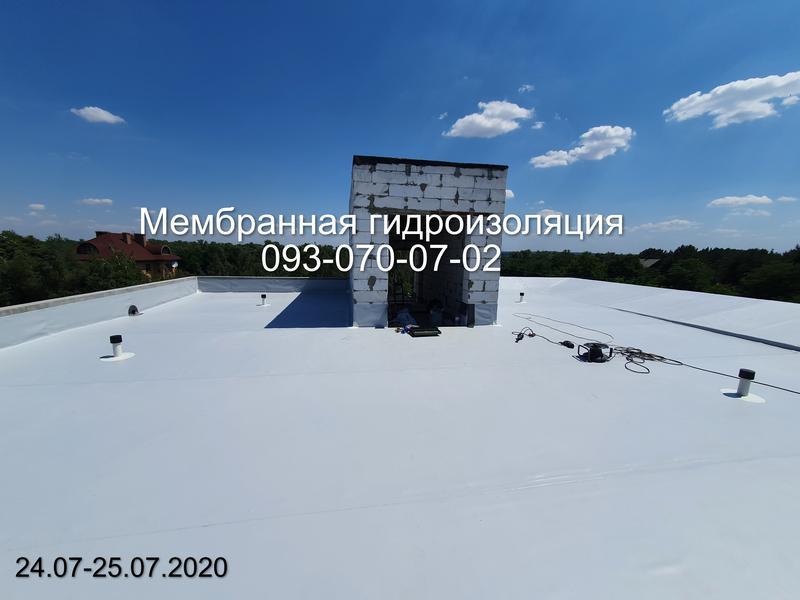 Монтаж ПВХ мембраны, ТПО мембраны в Харькове