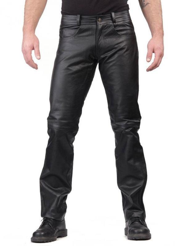 Новые кожанные штаны  52 раз