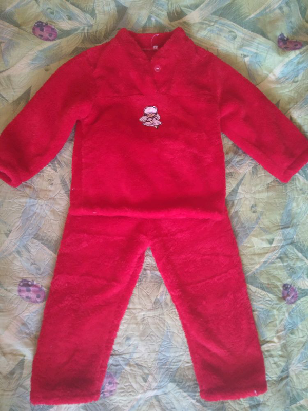 Теплые детские пижамы