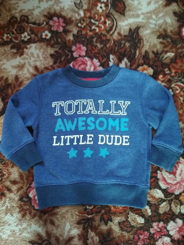 Теплая кофточка на флисе,свитшот,свитер на возраст 12-18 месяц... - Фото 3