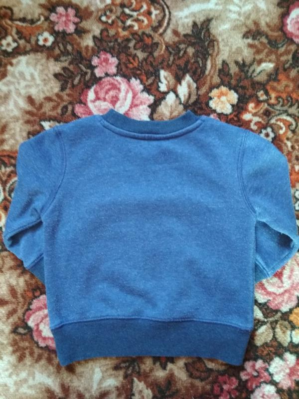 Теплая кофточка на флисе,свитшот,свитер на возраст 12-18 месяц... - Фото 4