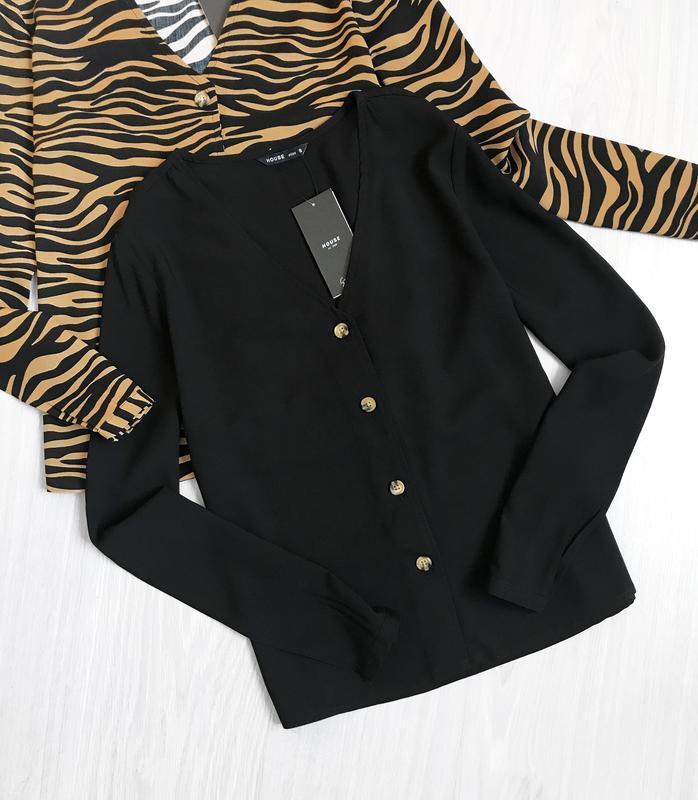 Блуза на пуговицах трендовый винтажный крой