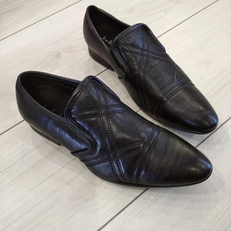 Кожаные туфли подросток р. 36  kellaifeng