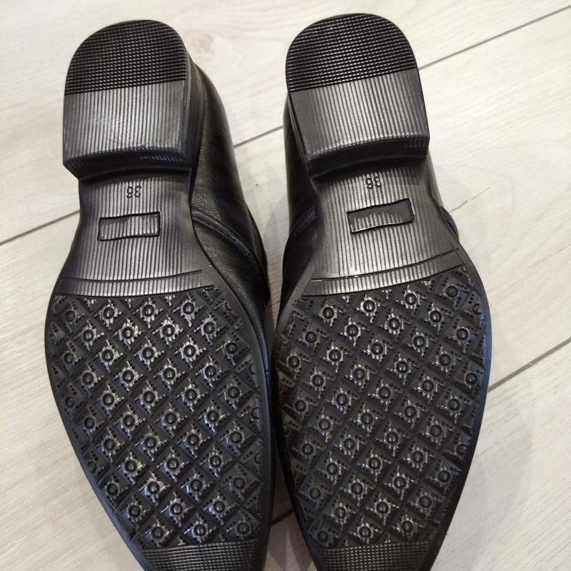 Кожаные туфли подросток р. 36  kellaifeng - Фото 3