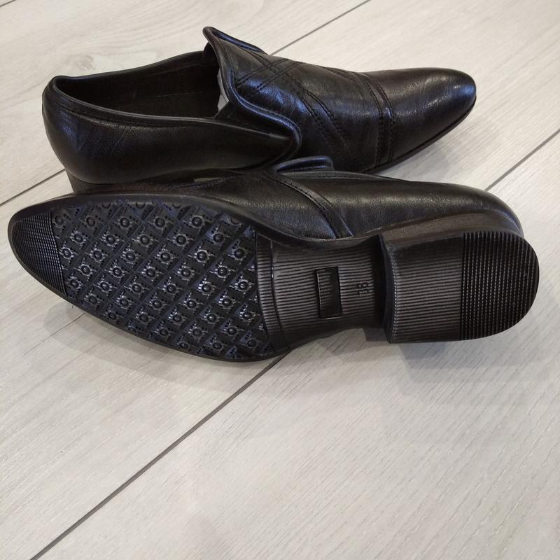 Кожаные туфли подросток р. 36  kellaifeng - Фото 7