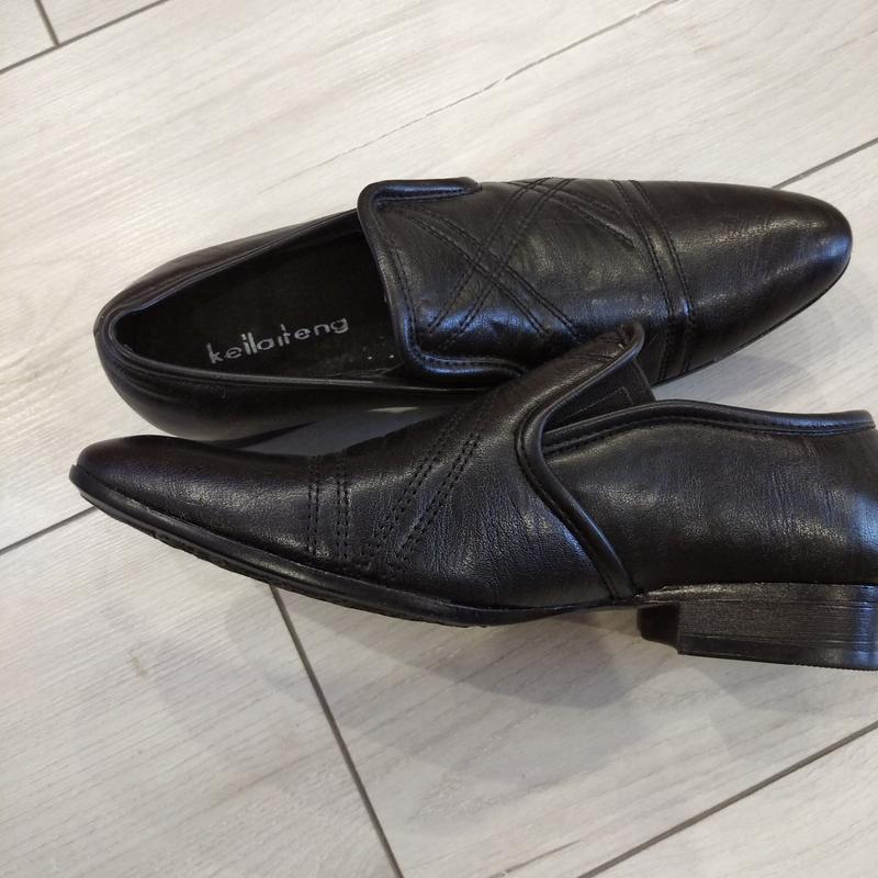 Кожаные туфли подросток р. 36  kellaifeng - Фото 10