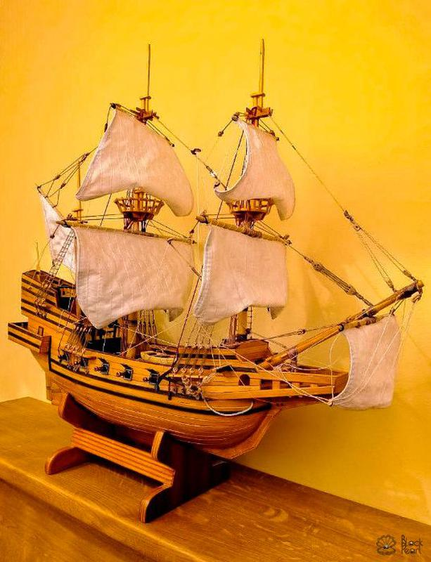 модели парусных кораблей ручной работы