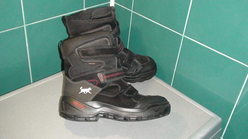 Ecco gore-tex - шкіряні зимові чобітки. р- 38 (24.5см)