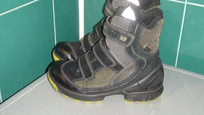 Ecco biom gore-tex - шкіряні зимові черевики. р - 34