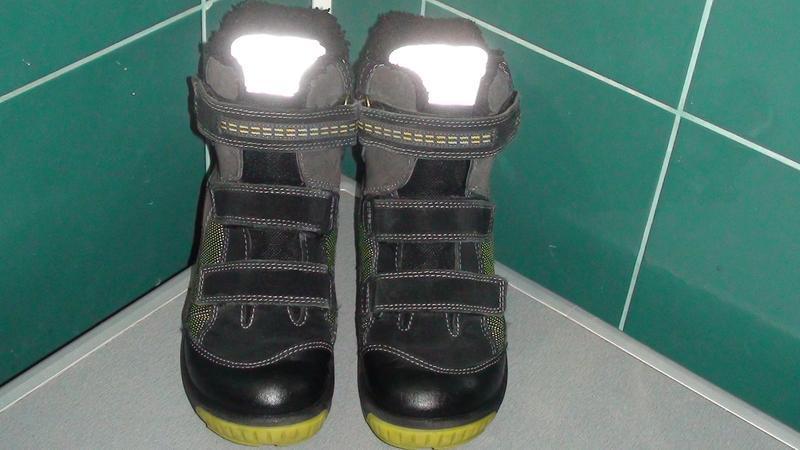 Ecco biom gore-tex - шкіряні зимові черевики. р - 34 - Фото 2