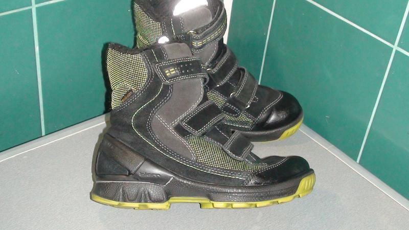 Ecco biom gore-tex - шкіряні зимові черевики. р - 34 - Фото 3