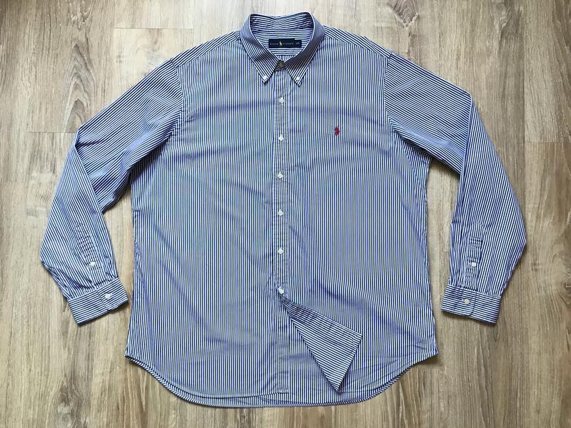 Мужская классическая рубашка с длинным рукавом polo ralph lauren