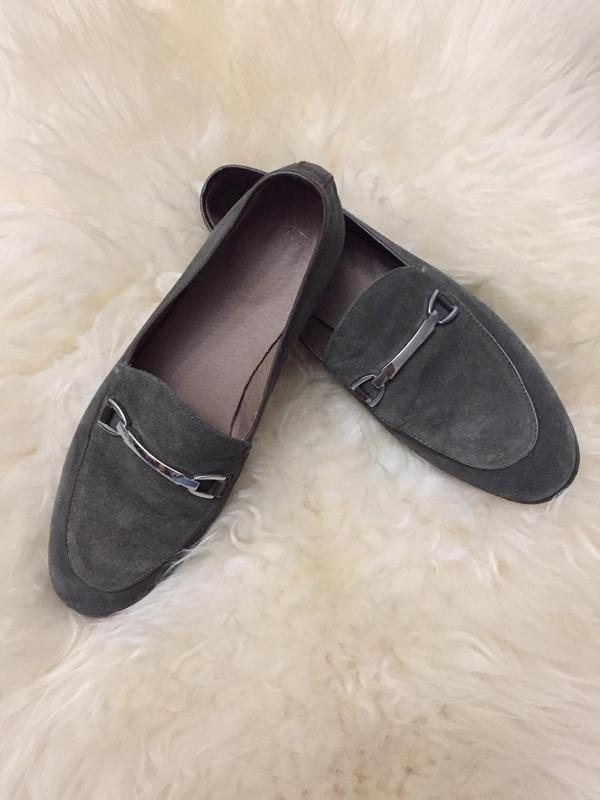Мягкие туфли лофферы из натуральной замши