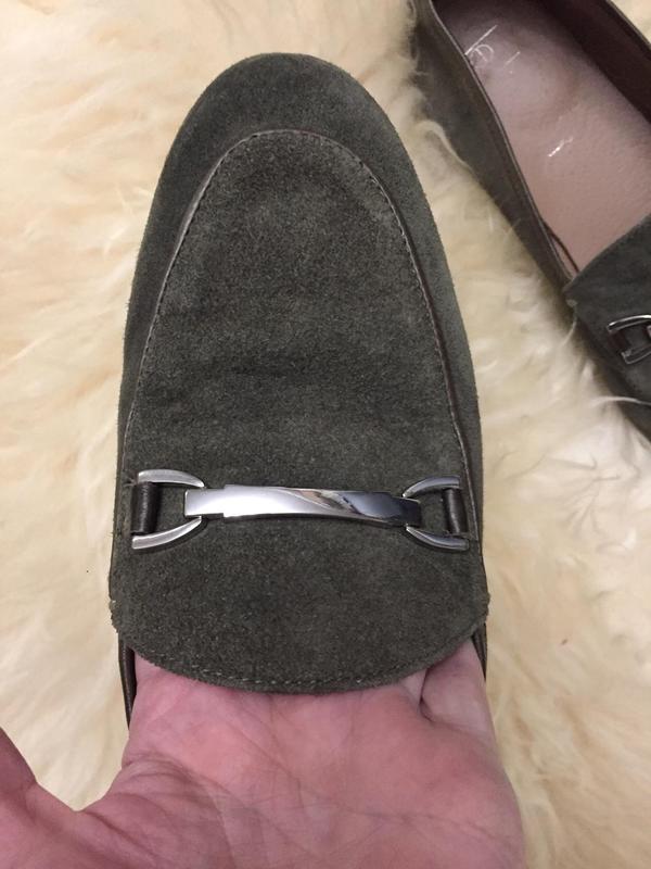 Мягкие туфли лофферы из натуральной замши - Фото 2