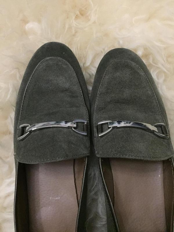 Мягкие туфли лофферы из натуральной замши - Фото 5