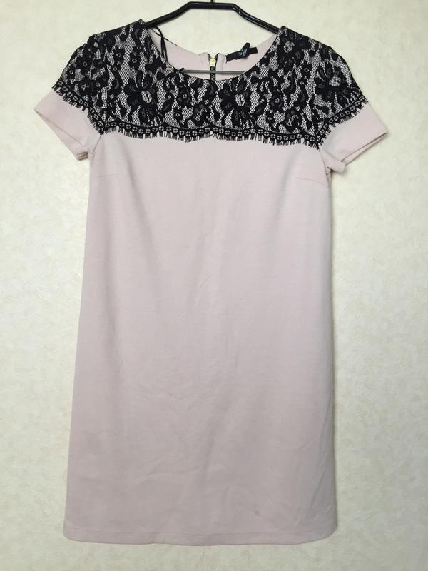 Очаровательное нюдовое платье от h&m