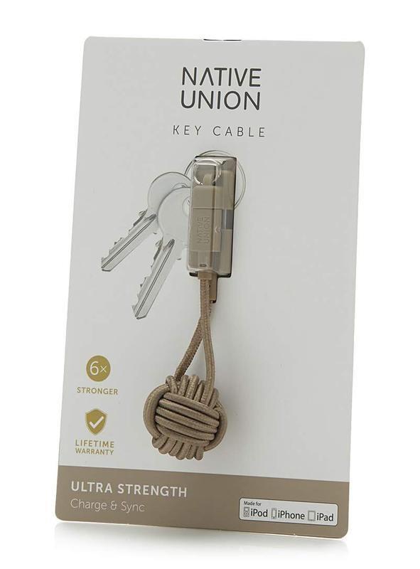 Кабель usb native union key cable lightning taupe {key-kv-l-tau}