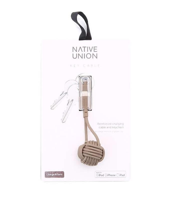Кабель usb native union key cable lightning taupe {key-kv-l-tau} - Фото 2