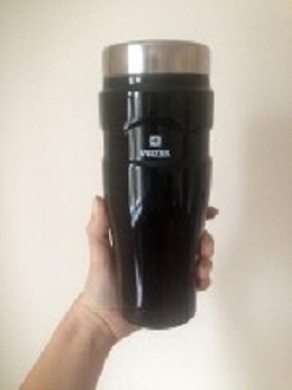 Добротная Термокружка вакуумная от VINZER 450 мл. черная глянцева