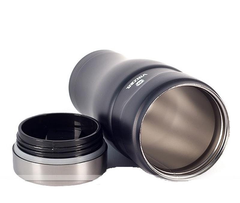 Добротная Термокружка вакуумная от VINZER 450 мл. черная глянцева - Фото 2
