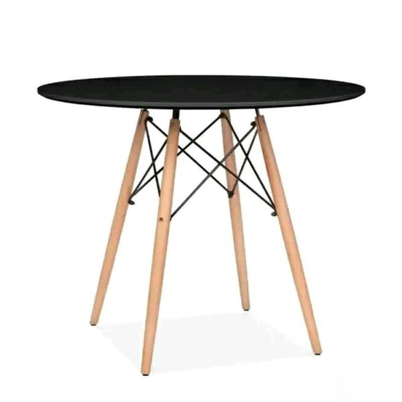 Стильный обеденный стол из дерева бук, круглый 60см диаметр тренд