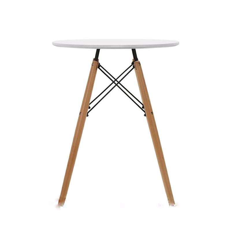 Стильный и лаконичный обеденный стол из бука 60см на ногах дерево - Фото 2