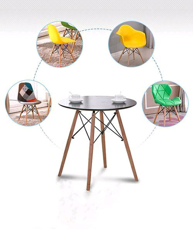 Стильный и лаконичный обеденный стол из бука 60см на ногах дерево - Фото 4