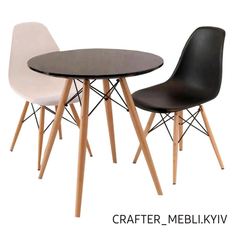 Стол обеденный кухонный дерево/металл - Фото 2