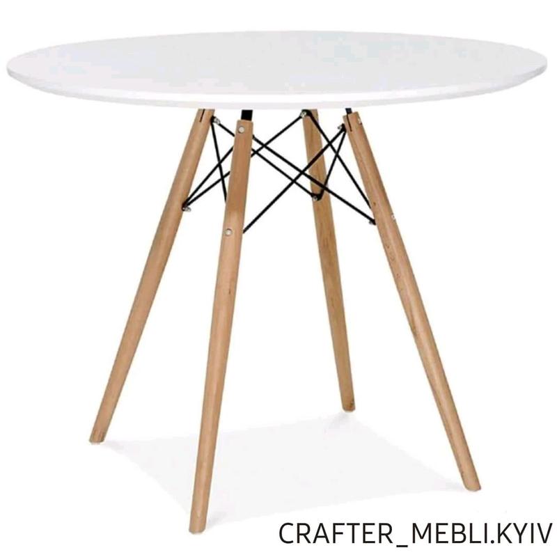 Стол обеденный кухонный дерево/металл