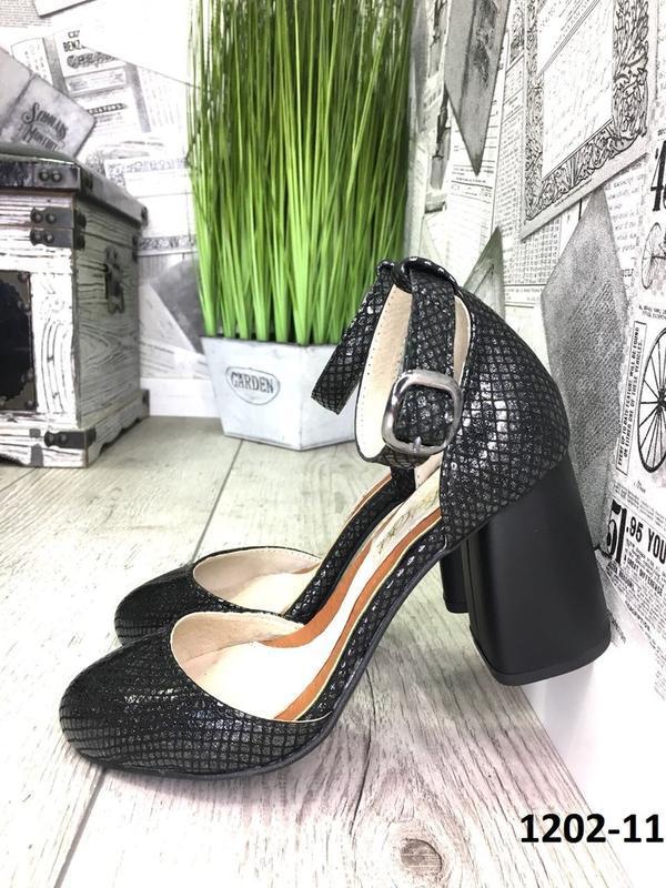 Эксклюзивные открытые туфли из натуральной турецкой кожи