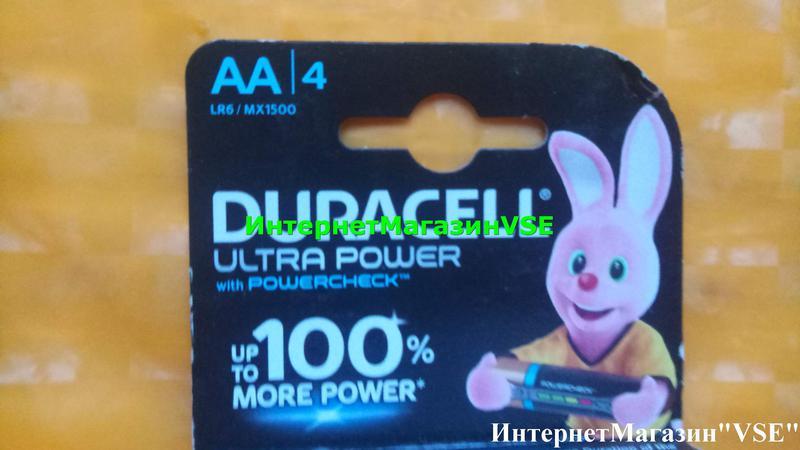 Батарейки Duracell Ultra Power 1.5В MX1500-LR6 AA 4шт ПАЛЬЧИКОВЫЕ - Фото 2