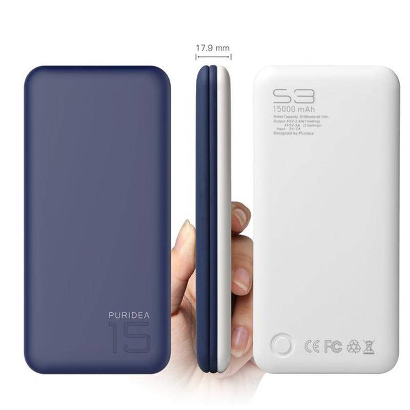 Портативное зарядное устройство Puridea S3 15000mAh Li-Pol - Фото 2