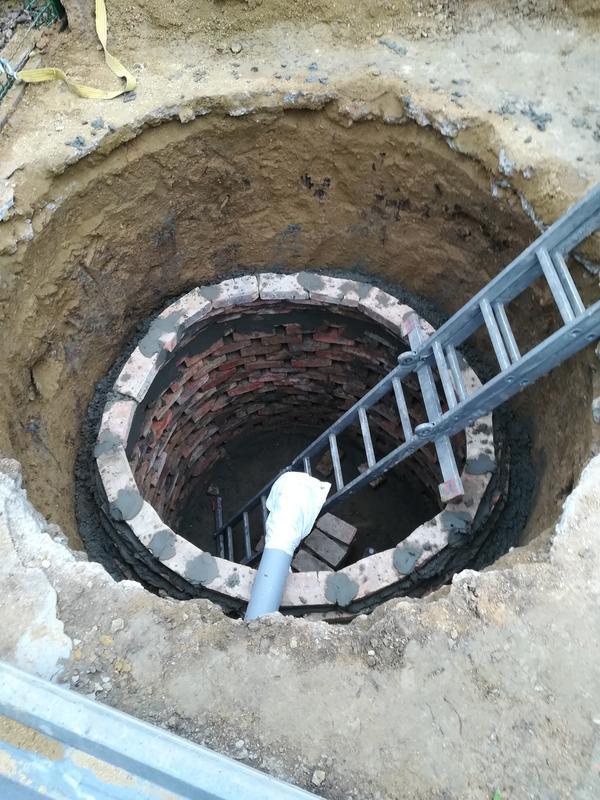 Земляные работы. Сливная яма. Траншея, фундамент.