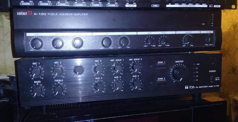 Трансляционный усилитель A-120 (INTER-M), микшер, 120W