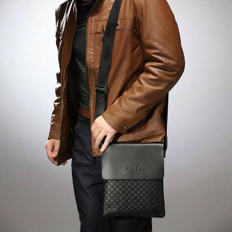 Мужская сумка через плечо Polo videng paris - Фото 2