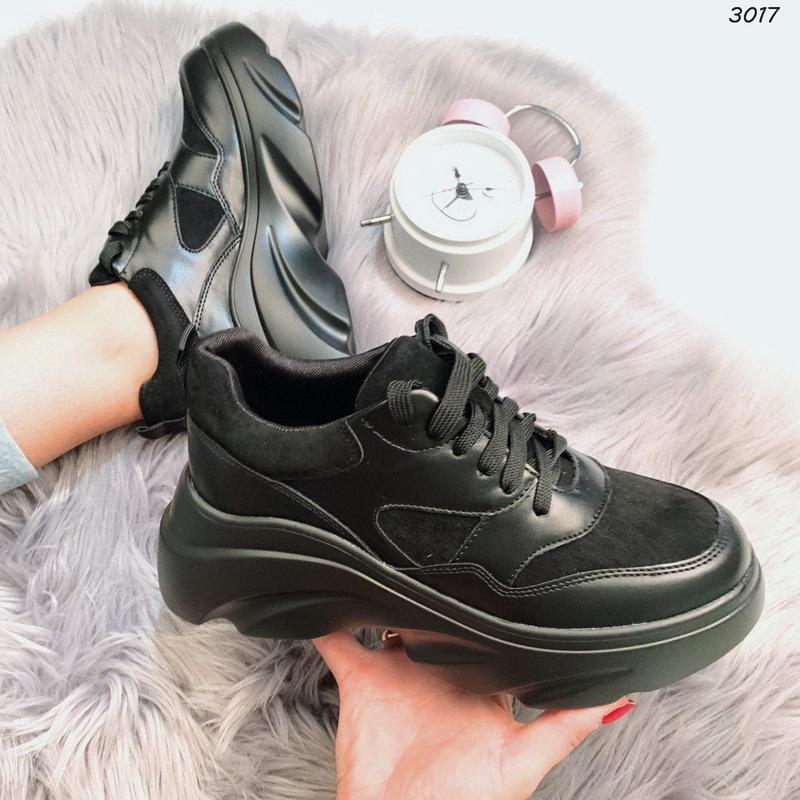 Хит сезона стильные черные кроссы - Фото 3