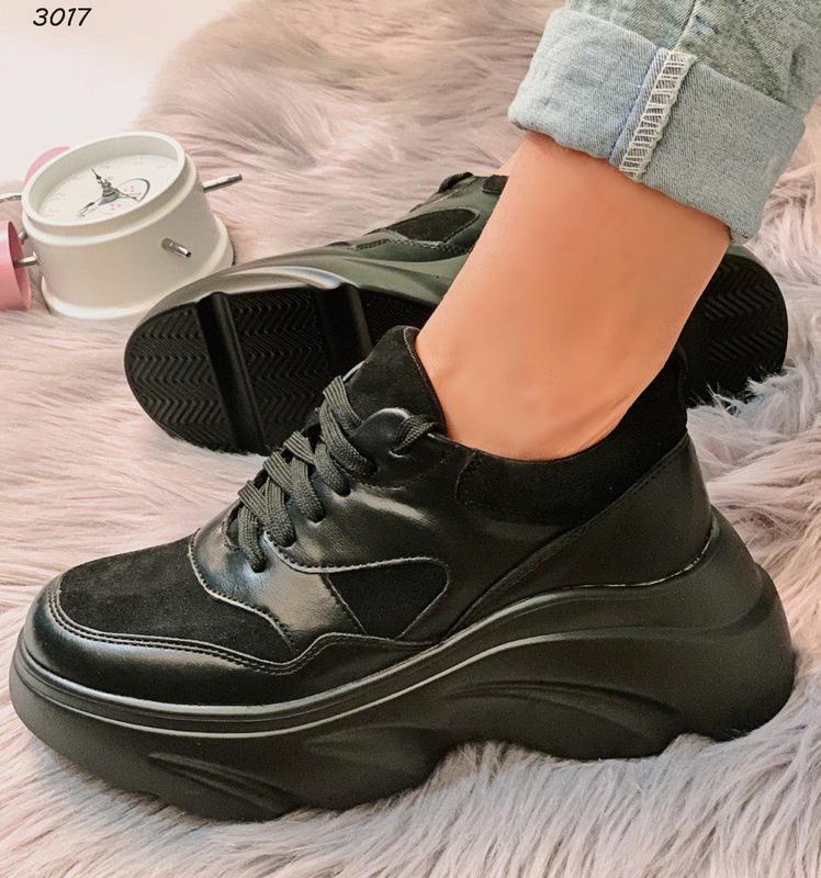 Хит сезона стильные черные кроссы - Фото 4